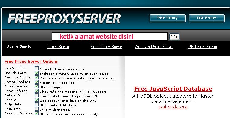 Cara paling praktis menggunakan fasilitas website unblocker. Salah ...