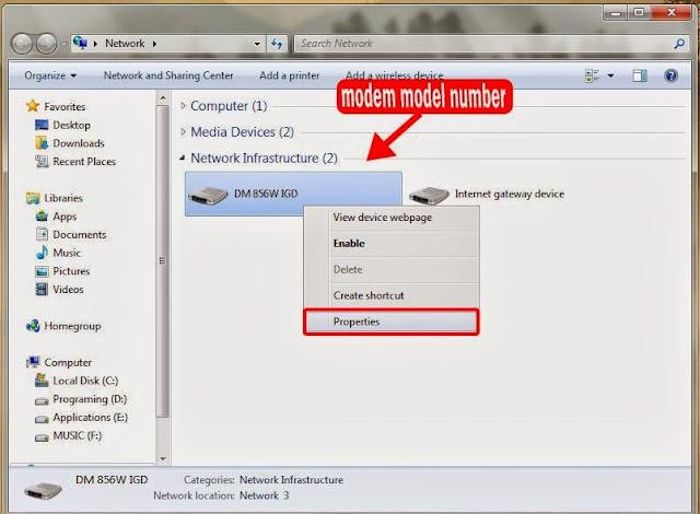 modem properties