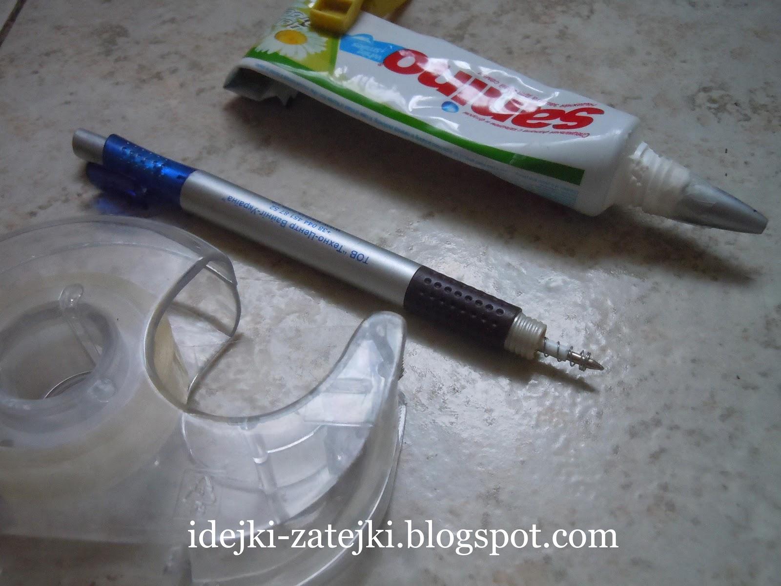 Поделки из зубной пасты фото