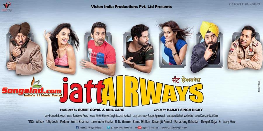 Jatt Airways (2013) Punjabi Mp3 Songs Free Download