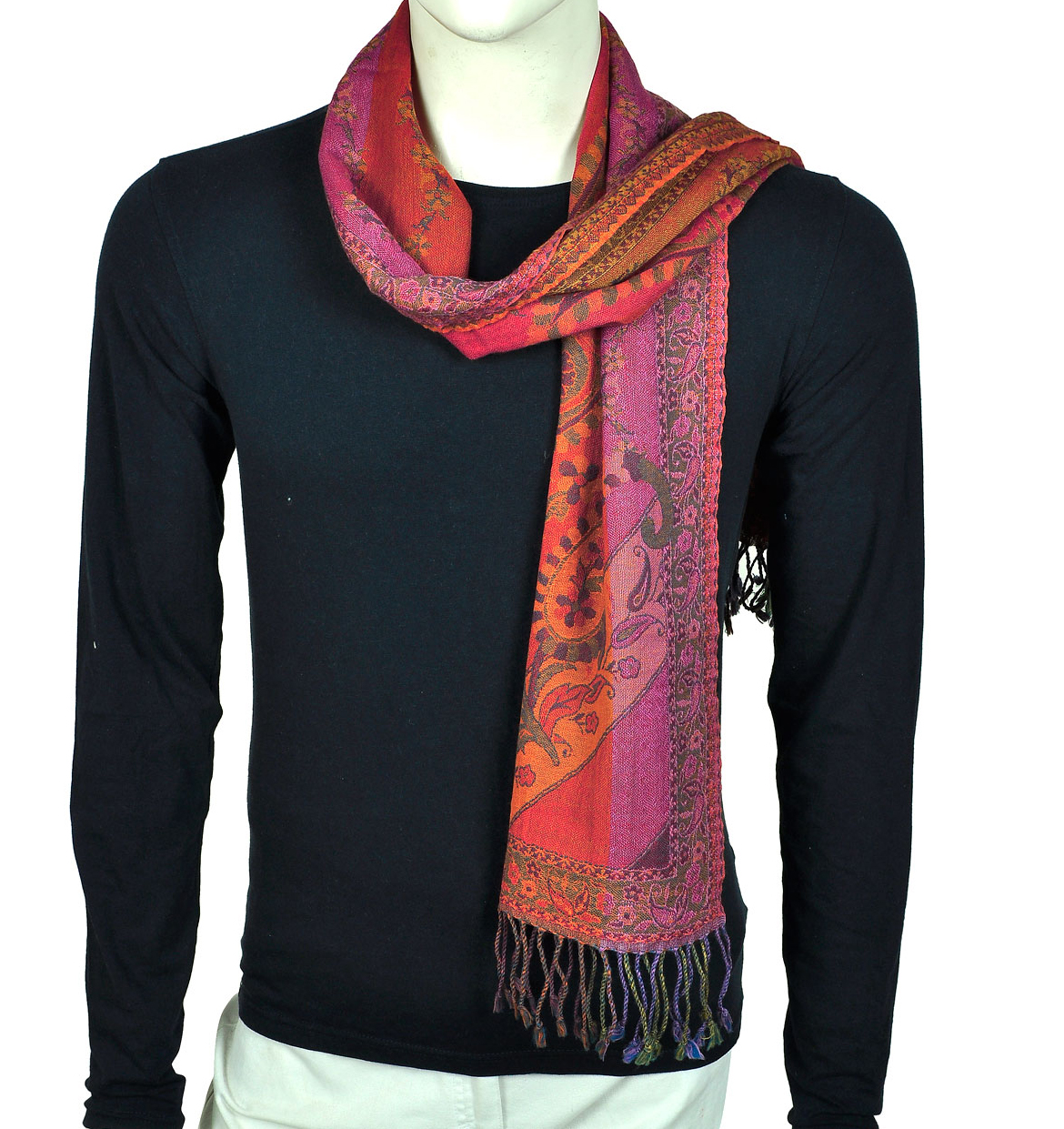 Shawls Scarves Stoles: Cashmere Muffler or Neck Scarf from ...