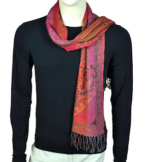 Cashmere Muffler or Neck Scarf from India