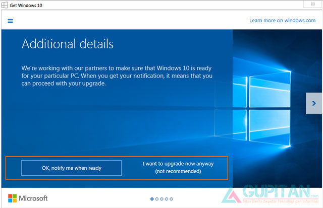 Cara Upgrade ke Windows 10 Melalui Windows Update
