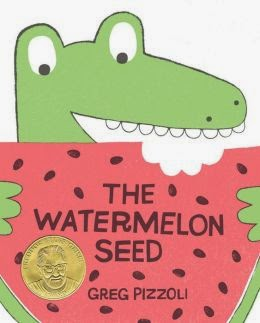 http://www.amazon.com/The-Watermelon-Seed-Greg-Pizzoli/dp/1423171012/ref=pd_sim_b_26?ie=UTF8&refRID=03MN41HNJ715PR2MWTQC