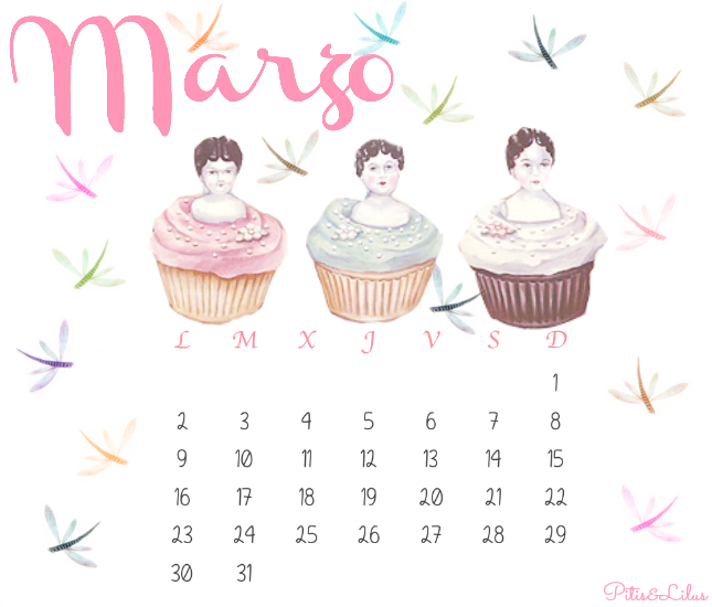 CALENDARIO IMPRIMIBLE DESCARGABLE MARZO 2015