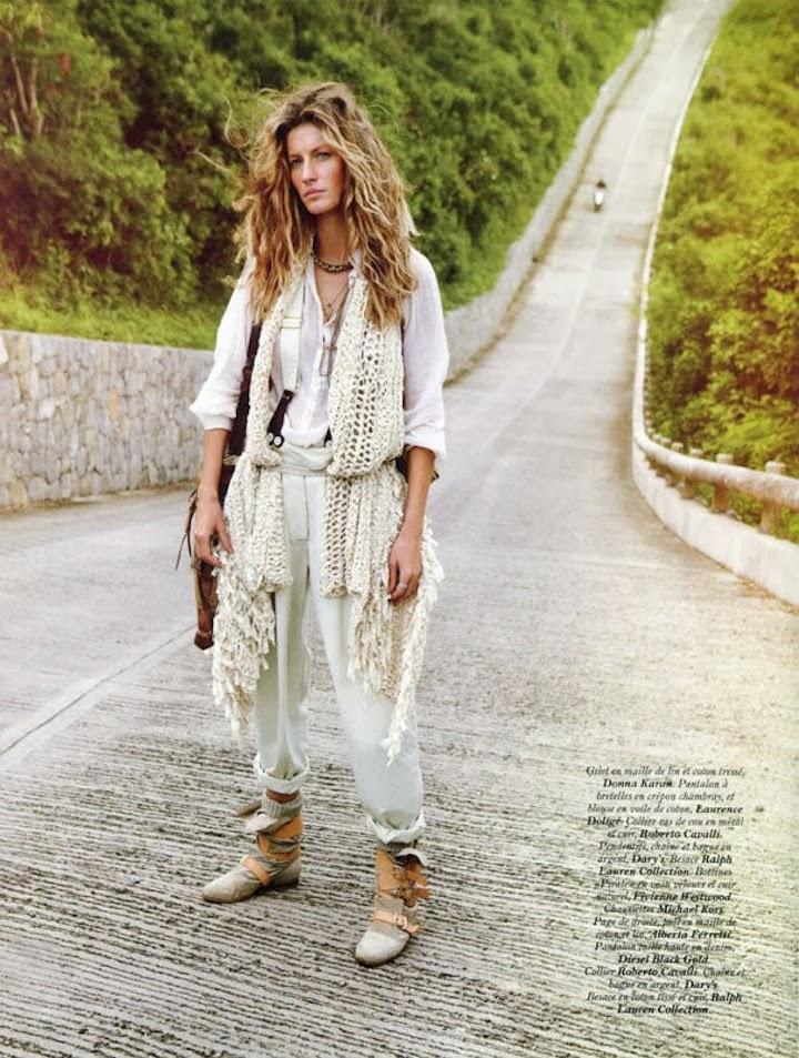 Gisele Bundchen for Vogue Paris. April 2011, first cover by Emmanuelle Alt