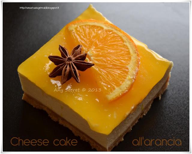 cheese cake all'arancia