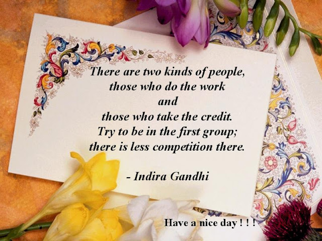 Words From Indira Gandhi