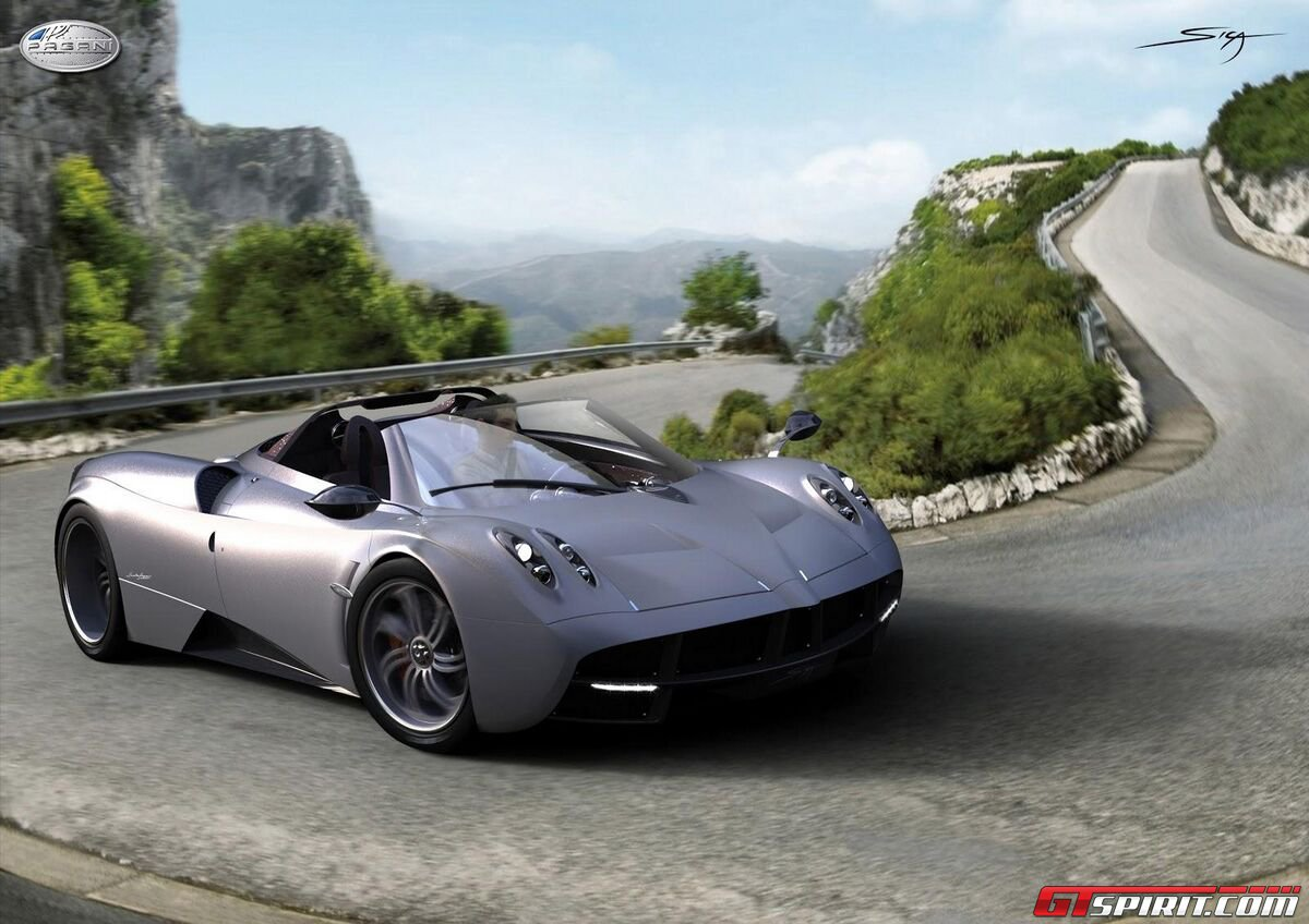 new car spirit pagani huayra roadster rendering by ied torino. Black Bedroom Furniture Sets. Home Design Ideas