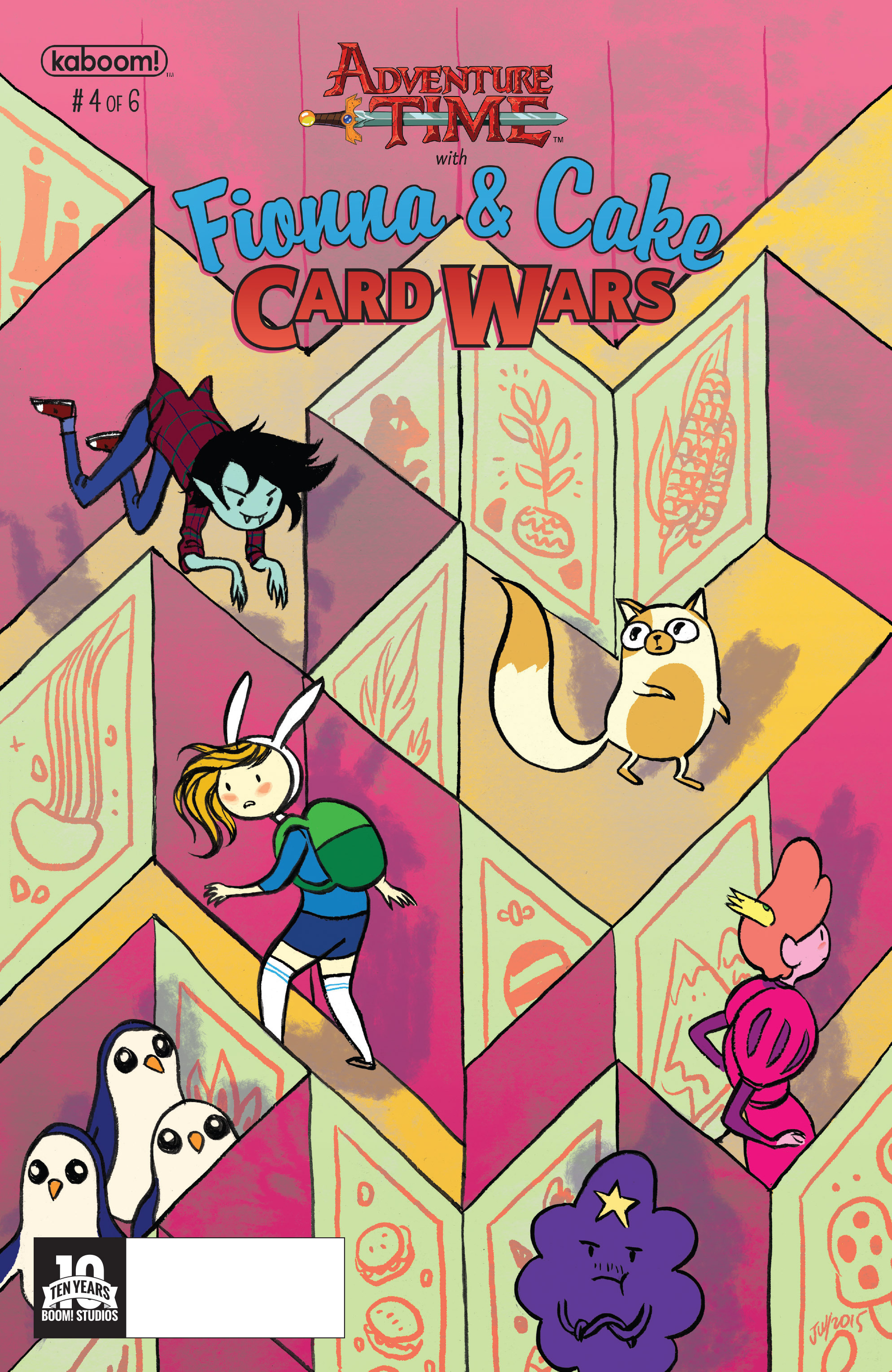 Adventure Time Fionna and Cake Card Wars 4 Page 1