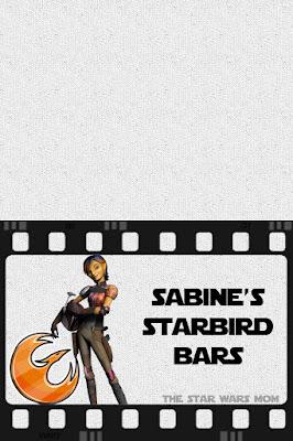 Star Wars Rebels Party Food Label - Sabine's Starbird Bars Free Printable