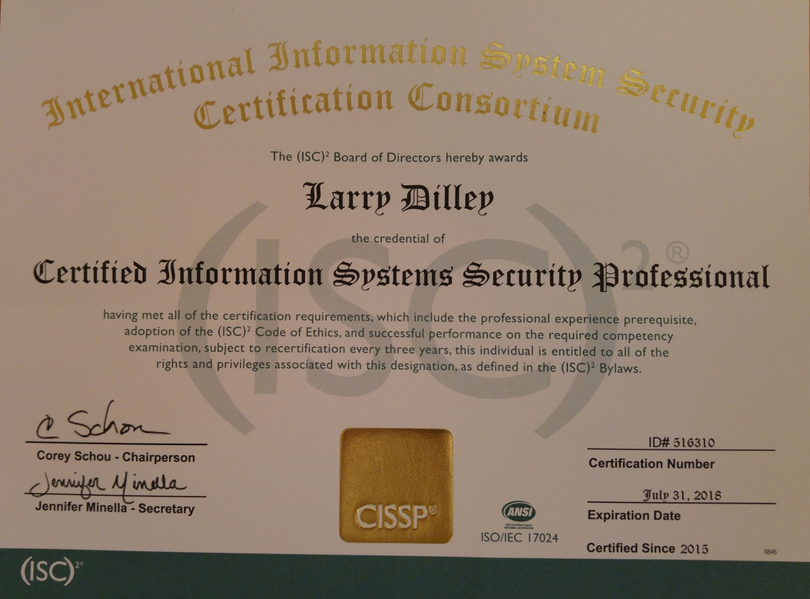 Constant Boom Certified Information Systems Security Professional