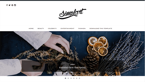 Download Simplart Responsive Blogger/Blogspot Template