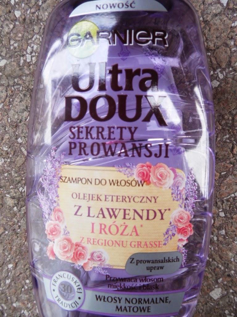 Garnier Ultra Doux, Sekrety Prowansji, Szampon do włosów olejek eteryczny z lawendy i róża z regionu Grasse/ włosy normalne, matowe