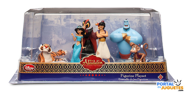figuras aladdin disney store caja
