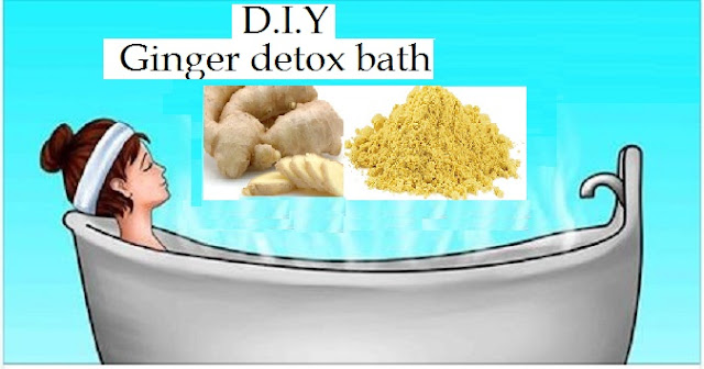 ginger detox bath health benifits