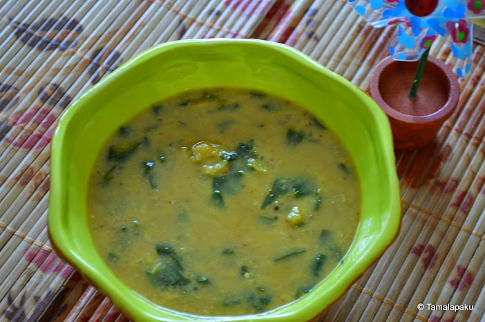 Keerai Kootu ~ Kootu With Greens