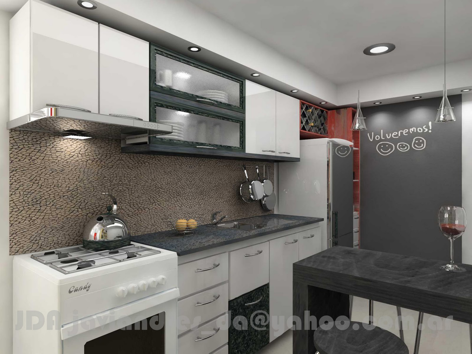 arquitec-maquetas: Remodelación de Cocina: Diseño 3d