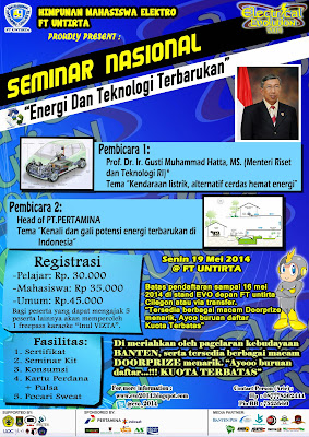 Seminar Nasional Electrical Evolution (E-VO) 2014