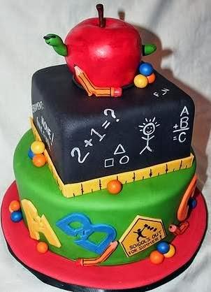 Fondant School Cake Design