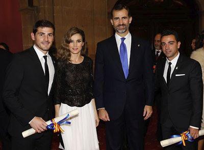 Iker Casillas y Xavi Hernández Premio Príncipe de Asturias de los Deportes 2012