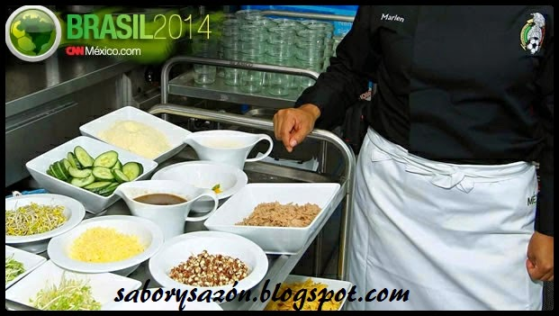 comida tradicional y saludable para el mundial 2014