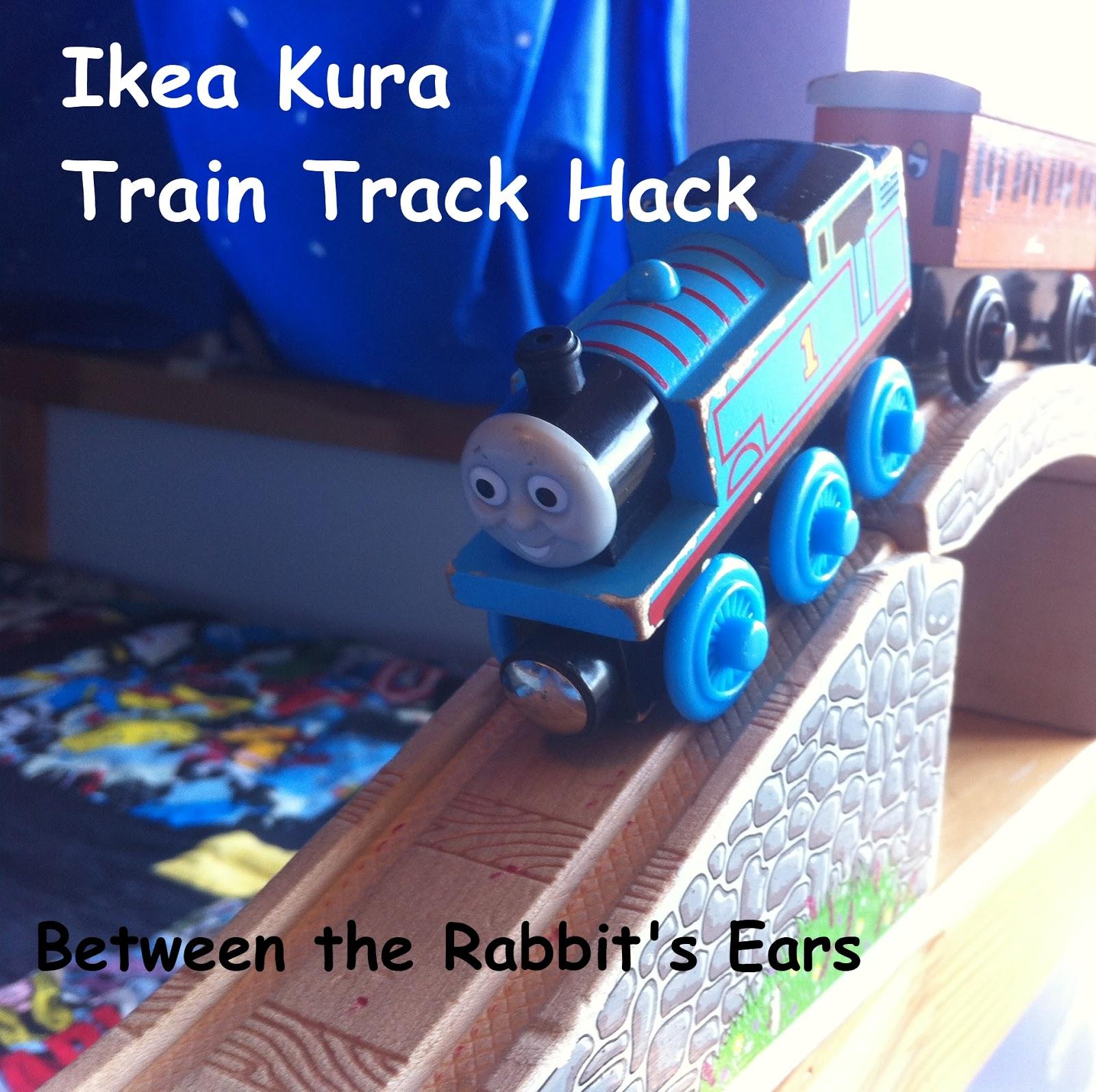 Between the rabbit 39 s ears diy ikea kura train track hack - Gazebo 2x2 ikea ...
