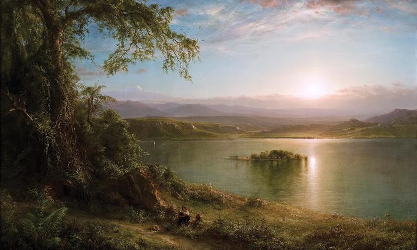 Im genes arte pinturas im genes de paisajes naturales y for Imagenes de jardines exoticos