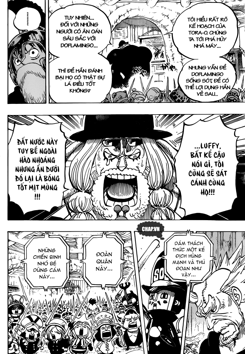 One Piece Chapter 729: Thất Vũ Hải Doflamingo vs. Thất Vũ Hải Law 012