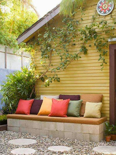 outdoor benches with brick  | Manufacturers Outdoor Furniture