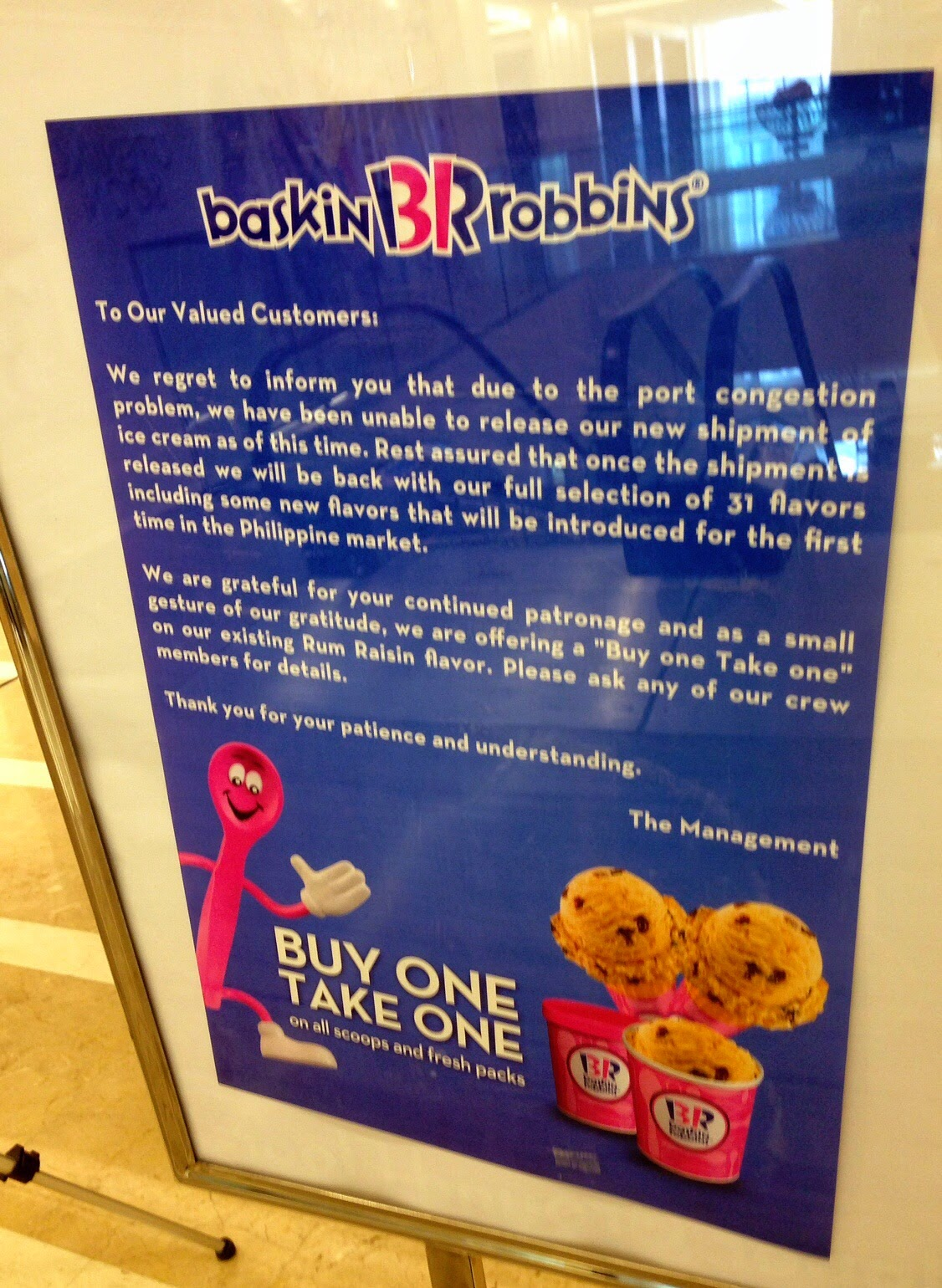 Oh No! Baskin-Robbins Philippines Ran Out Of Ice Cream!