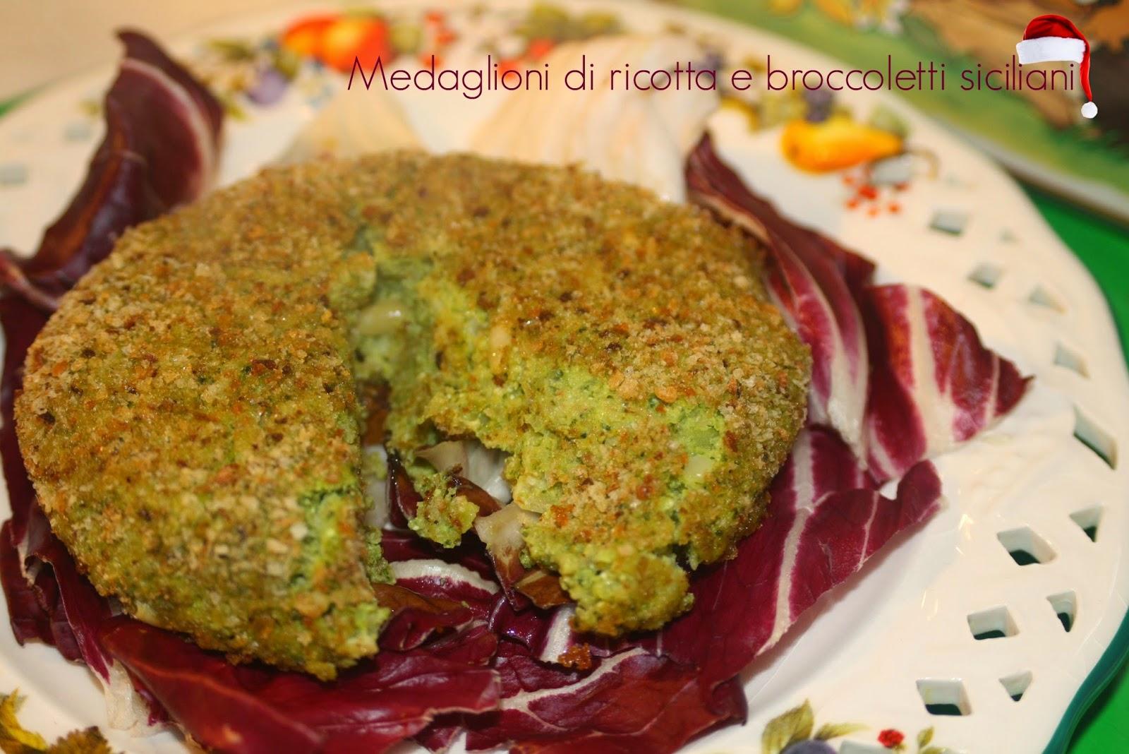 #31  stagioniamo con babbo natale - medaglioni di ricotta, broccoletti siciliani e pinoli