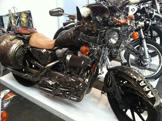 Custom motorcycle with amazing metalwork