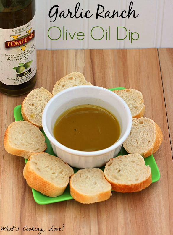 Garlic Ranch Olive Oil Dip