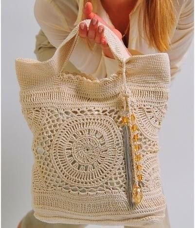 Bolso Mandalas Crochet Patron - Patrones Crochet