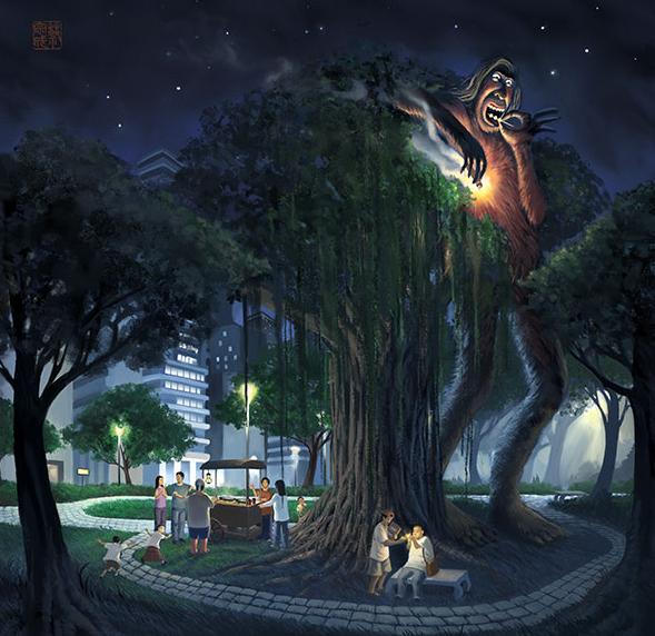 hantu diatas pohon beringin