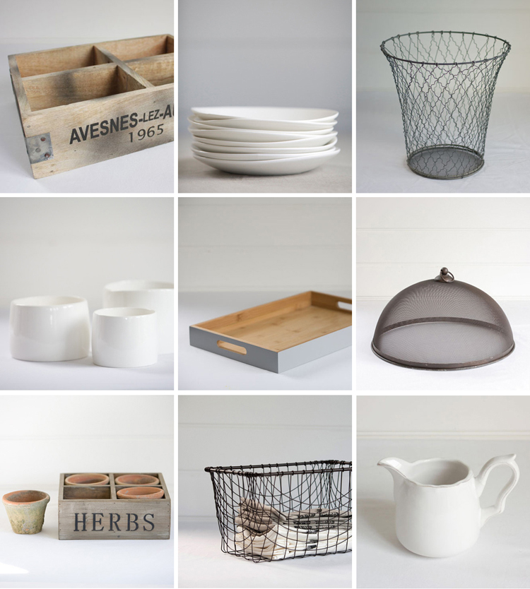 wood, white, and wire products from online retailer father rabbit