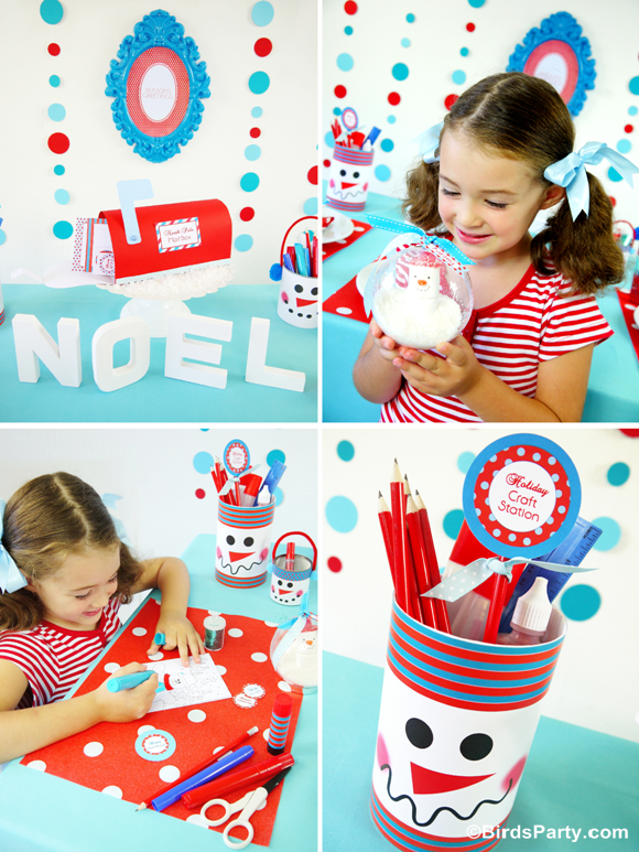Crafty Snowman Christmas Table with FREE Printables