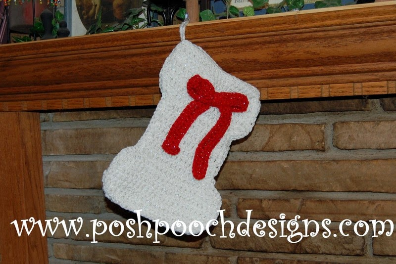 Free Dog Christmas Stocking Crochet Pattern : Posh Pooch Designs Dog Clothes: Dog Bone Christmas ...