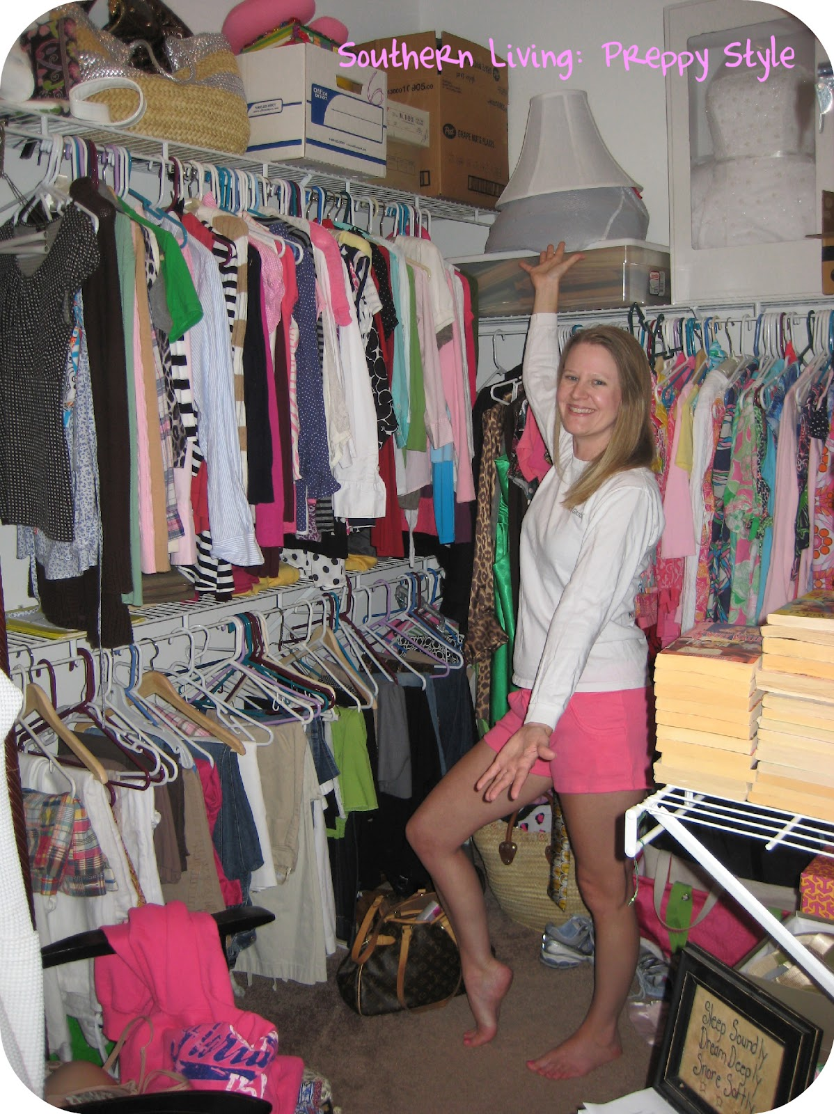 Southern living preppy style donuts closet re do and a for Southern closets