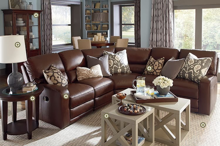 Bassett Furniture Leather Living Room