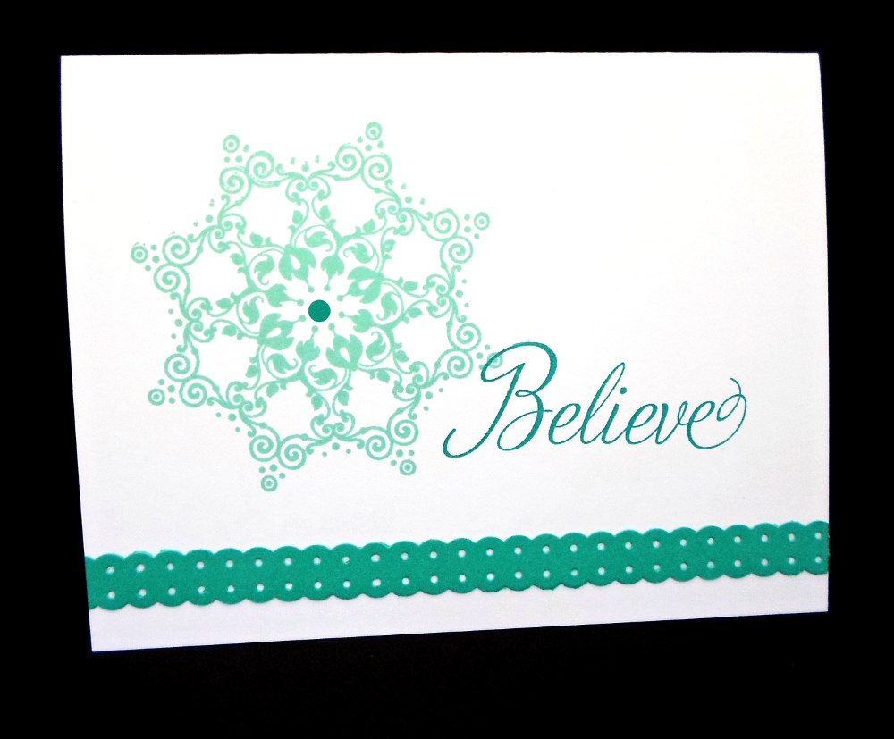 Snowflake Soiree Christmas Card