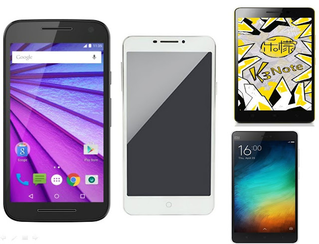 Moto G 3rd Gen vs Yu Yureka Plus vs Lenovo K3 Note vs Xiaomi Mi 4i