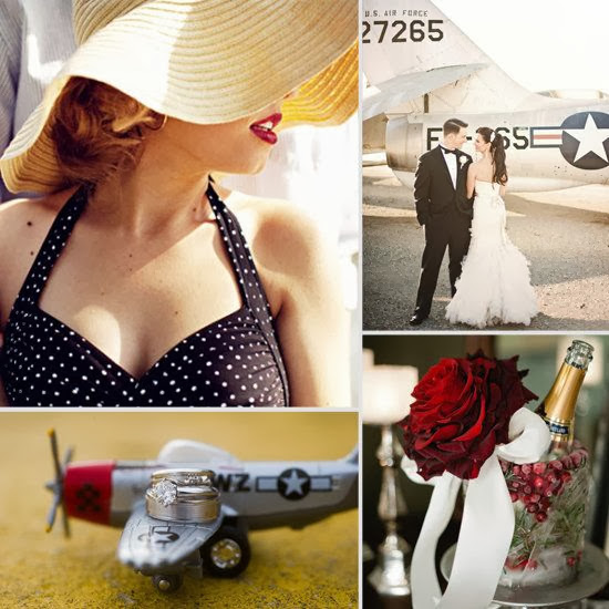 Flashback Summer: My Wedding Theme Revealed!  1940s military air force wedding