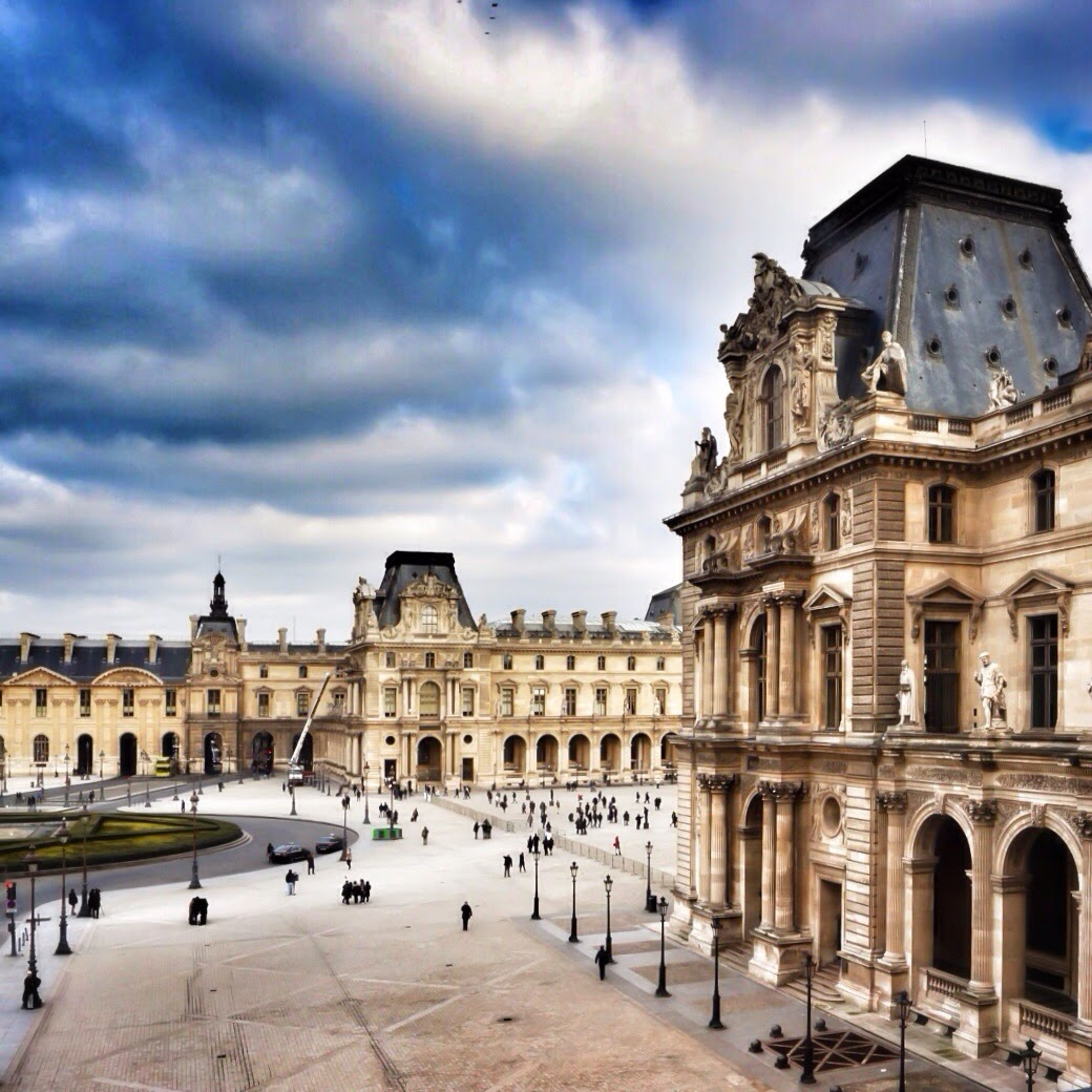 View from inside the Louvre in Paris
