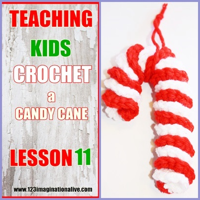 How To Crochet A CANDY CANE!