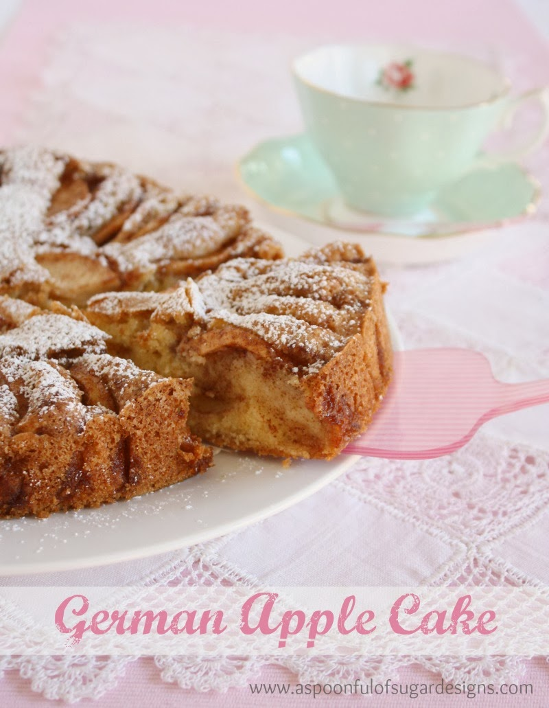 German Apple Cake - A Spoonful of Sugar