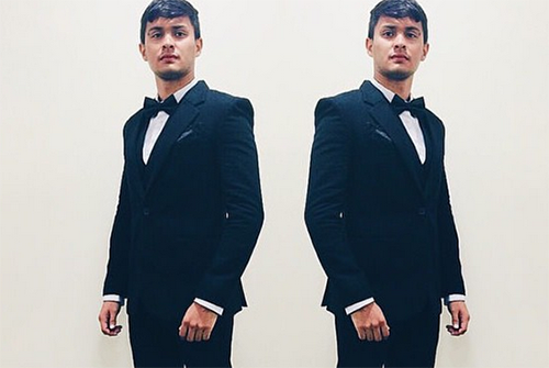 Matteo Guidicelli receives trophy on behalf of girlfriend Sarah G.