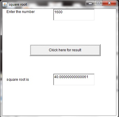 square root java program