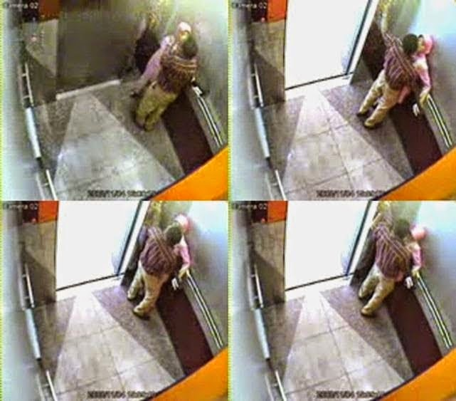 CCTV Rakam adegan MEMALUKAN pasangan dalam lif